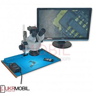 Микроскоп YaXun YX-AK33, c камерой 21MP Full HD 1080 60FPS HDMI, с антистатической робочей поверхностью