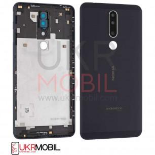Задняя крышка Nokia 3.1 Plus TA-1104, с стеклом камеры, Original PRC, Black