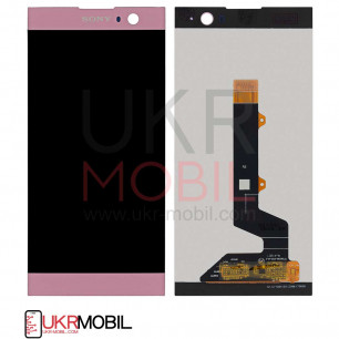 Дисплей Sony H3113 Xperia XA2, H3123 Xperia XA2, H3133 Xperia XA2, H4113 Xperia XA2, H4133 Xperia XA2, с тачскрином, Pink