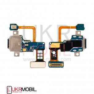 Шлейф Samsung N960 Galaxy Note 9, с разъемом зарядки, с микрофоном, Original