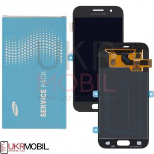 Дисплей Samsung A320 Galaxy A3 2017, GH97-19732A (SERVICE PACK ORIGINAL)  с тачскрином Black