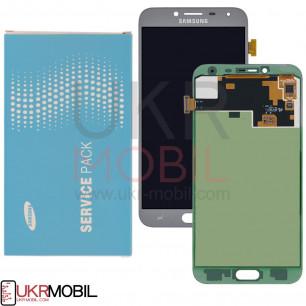 Дисплей Samsung J400, Galaxy J4 2018, GH97-21915C (SERVICE PACK ORIGINAL) с тачскрином Siver (Lavenda)