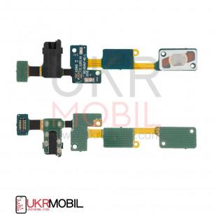 Шлейф Samsung G570 Galaxy J5 Prime, кнопки меню, коннектора наушников, с компонентами