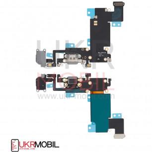 Шлейф Apple iPhone 6S Plus, с разъемом зарядки, гарнитуры, Original PRC, Black