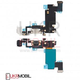 Шлейф Apple iPhone 6S Plus, с разъемом зарядки, гарнитуры, Original PRC, White