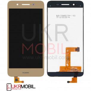 Дисплей Huawei GR3 2015, P8 Lite Smart (TAG-L01), Enjoy 5s, с тачскрином, Original PRC, Gold