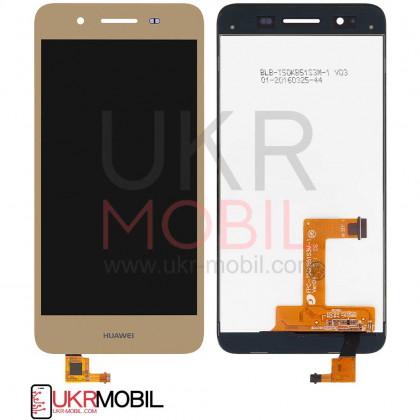 Дисплей Huawei GR3 2015, P8 Lite Smart (TAG-L01), Enjoy 5s, с тачскрином, Original PRC, Gold - ukr-mobil.com