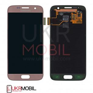 Дисплей Samsung G930 Galaxy S7 (Super AMOLED) с тачскрином Pink Gold