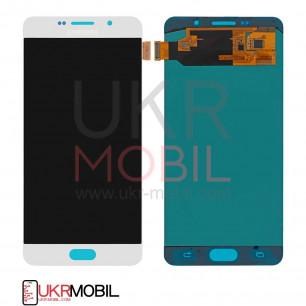 Дисплей Samsung A710H Galaxy A7 2016, OLED, с тачскрином, White