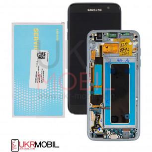 Дисплей Samsung G935 Galaxy S7 Edge, GH97-18533A, с тачскрином, рамкой, Original, Black
