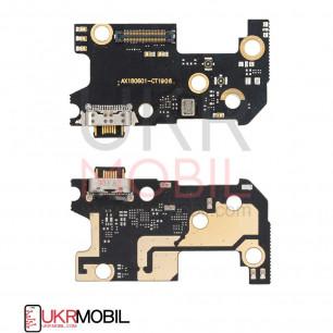 Шлейф Xiaomi Mi 8, нижняя плата с разъемом зарядки, микрофоном