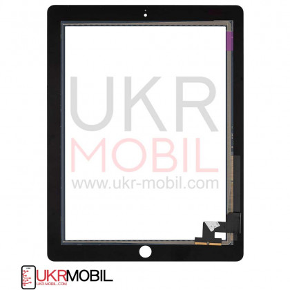 Сенсор (тачскрин) Apple iPad 2 (A1395, A1396, A1397), High Copy, Black, фото № 2 - ukr-mobil.com