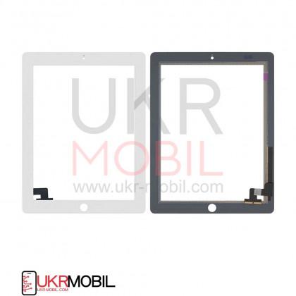 Сенсор (тачскрин) Apple iPad 2 (A1395, A1396, A1397), High Copy, White, фото № 1 - ukr-mobil.com