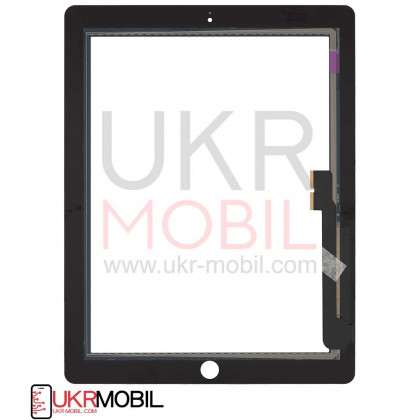 Сенсор (тачскрин) Apple iPad 3 (A1416, A1430), iPad 4 (A1458, A1459), High Copy, Black, фото № 2 - ukr-mobil.com