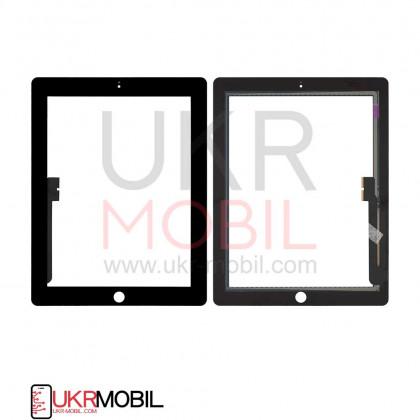 Сенсор (тачскрин) Apple iPad 3 (A1416, A1430), iPad 4 (A1458, A1459), High Copy, Black, фото № 1 - ukr-mobil.com
