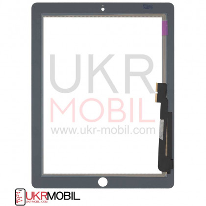 Сенсор (тачскрин) Apple iPad 3 (A1416, A1430), iPad 4 (A1458, A1459), High Copy, White, фото № 2 - ukr-mobil.com