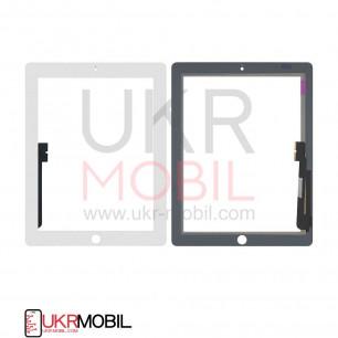 Сенсор (тачскрин) Apple iPad 3 (A1416, A1430), iPad 4 (A1458, A1459), High Copy, White