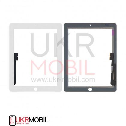 Сенсор (тачскрин) Apple iPad 3 (A1416, A1430), iPad 4 (A1458, A1459), High Copy, White, фото № 1 - ukr-mobil.com