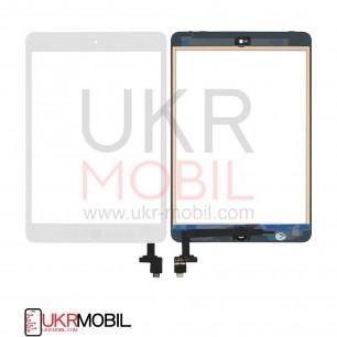 Сенсор (тачскрин) Apple iPad mini, (A1432, A1454, A1455), iPad Mini 2 Retina (A1489, A1490, A1491), с кнопкой Home, Original PRC, White