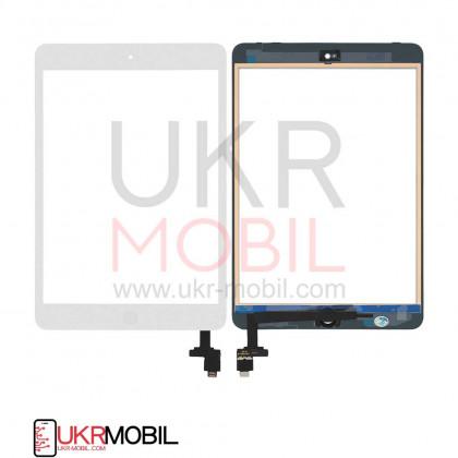 Сенсор (тачскрин) Apple iPad mini, (A1432, A1454, A1455), iPad Mini 2 Retina (A1489, A1490, A1491), с кнопкой Home, Original PRC, White, фото № 1 - ukr-mobil.com