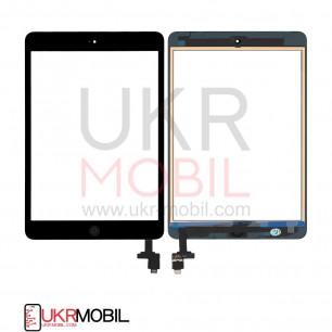 Сенсор (тачскрин) Apple iPad mini, (A1432, A1454, A1455), iPad Mini 2 Retina (A1489, A1490, A1491), с кнопкой Home, Original PRC, Black