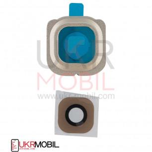 Стекло камеры Samsung G925 Galaxy S6 Edge, Gold