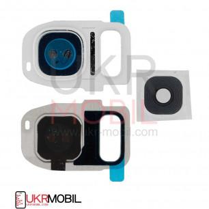 Стекло камеры Samsung G930F Galaxy S7, G935F Galaxy S7 Edge, White