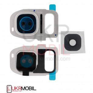 Стекло камеры Samsung G930F Galaxy S7, G935F Galaxy S7 Edge, Silver