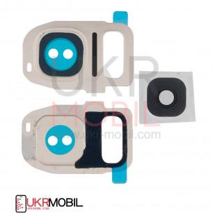 Стекло камеры Samsung G930F Galaxy S7, G935F Galaxy S7 Edge, Gold