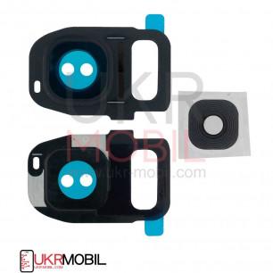 Стекло камеры Samsung G930F Galaxy S7, G935F Galaxy S7 Edge, Black