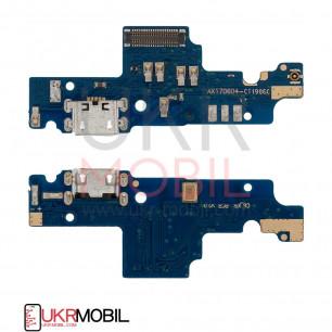 Шлейф Xiaomi Redmi Note 4x, нижняя плата с разъемом зарядки, микрофоном (широкий коннектор)