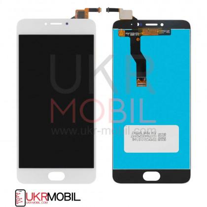 Дисплей Meizu M3 Note L681h, с тачскрином, High Copy, White, фото № 1 - ukr-mobil.com