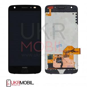 Дисплей Motorola XT1789 Moto Z2 Force, с тачскрином, Black