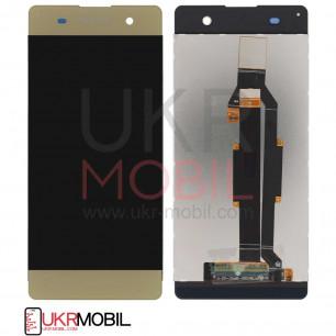 Дисплей Sony F3111 Xperia XA, F3112 Xperia XA Dual, F3113 Xperia XA, F3115 Xperia XA, F3116 Xperia XA Dual, с тачскрином, Gold