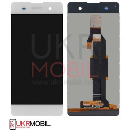Дисплей Sony F3111 Xperia XA, F3112 Xperia XA Dual, F3113 Xperia XA, F3115 Xperia XA, F3116 Xperia XA Dual, с тачскрином, White - ukr-mobil.com