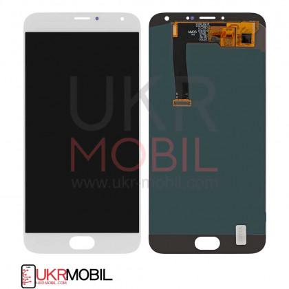 Дисплей Meizu MX5 M575, MX5e, MX5e Lite, с тачскрином, White - ukr-mobil.com