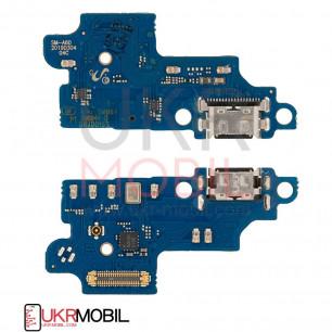 Шлейф Samsung A606 Galaxy A60, M405 Galaxy M40, с разъемом зарядки, микрофоном, Original PRC
