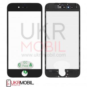 Стекло дисплея с рамкой и пленкой OCA Apple iPhone 6, Black, Original