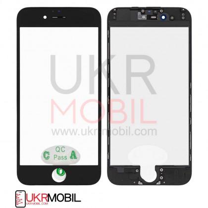 Стекло дисплея с рамкой и пленкой OCA Apple iPhone 6, Black, Original, фото № 1 - ukr-mobil.com