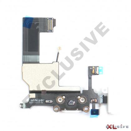 Шлейф Apple iPhone 5, с разъемом зарядки, гарнитуры, Original PRC, White, фото № 2 - ukr-mobil.com