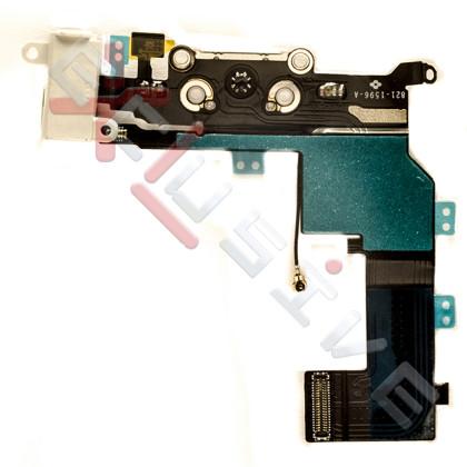 Шлейф Apple iPhone 5S, с разъемом зарядки, гарнитуры, Original PRC, White, фото № 2 - ukr-mobil.com