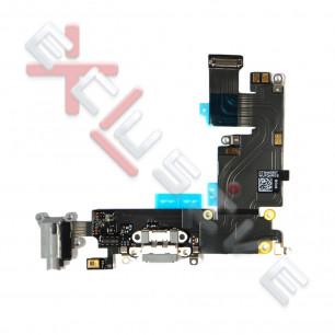 Шлейф Apple iPhone 6 Plus, коннектор зарядки, разъем гарнитуры, с микрофоном, Original PRC, Black