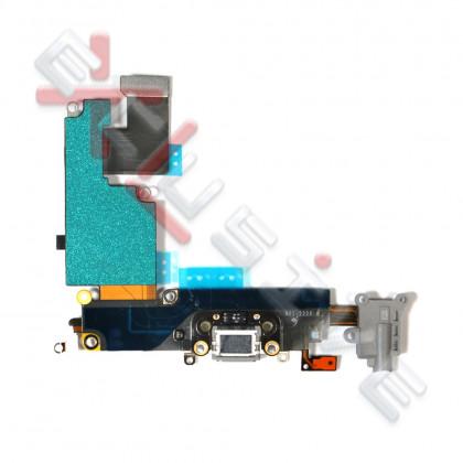 Шлейф Apple iPhone 6 Plus, коннектор зарядки, разъем гарнитуры, с микрофоном, Original PRC, Black, фото № 2 - ukr-mobil.com