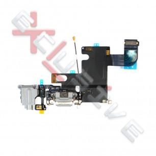 Шлейф Apple iPhone 6, коннектор зарядки, разъем гарнитуры, с микрофоном, Original PRC, Black