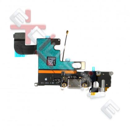 Шлейф Apple iPhone 6, коннектор зарядки, разъем гарнитуры, с микрофоном, Original PRC, Black, фото № 2 - ukr-mobil.com