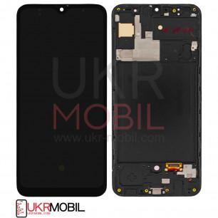 Дисплей Samsung A307 Galaxy A30S, с тачскрином, рамкой, OLED, Black