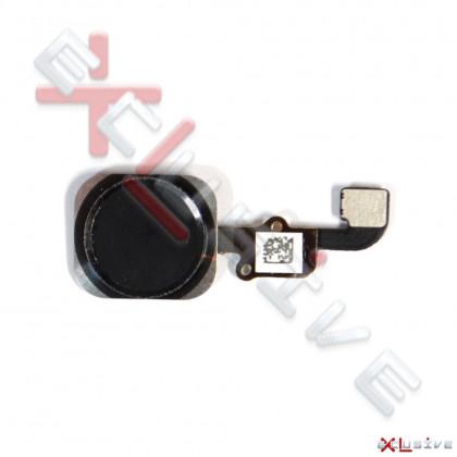 Шлейф Apple iPhone 6, кнопка Home, Black, фото № 1 - ukr-mobil.com
