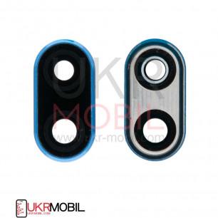 Стекло камеры Huawei P20 Lite (ANE-L21, ANE-LX1), с рамкой, Blue
