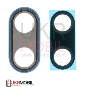 Стекло камеры Huawei P20 (EML-L29, EML-L09), с рамкой, Blue