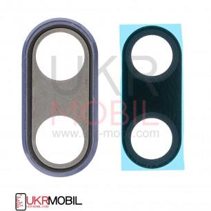 Стекло камеры Huawei P20 (EML-L29, EML-L09), с рамкой, Purple
